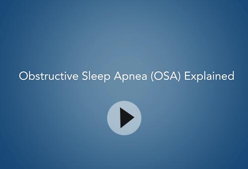 Obstructive Sleep Apnea Video