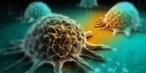 Digital illustration of cancer cell.