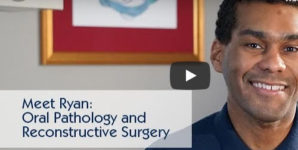 Thumbnail image from video of a patient named Ryan who had reconstructive oral surgery.